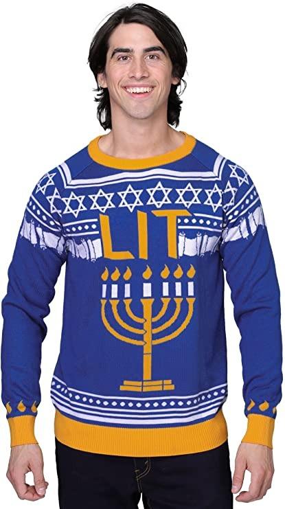 menorah ugly Hanukkah sweater