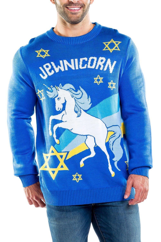 jewnicorn ugly hanukkah sweater