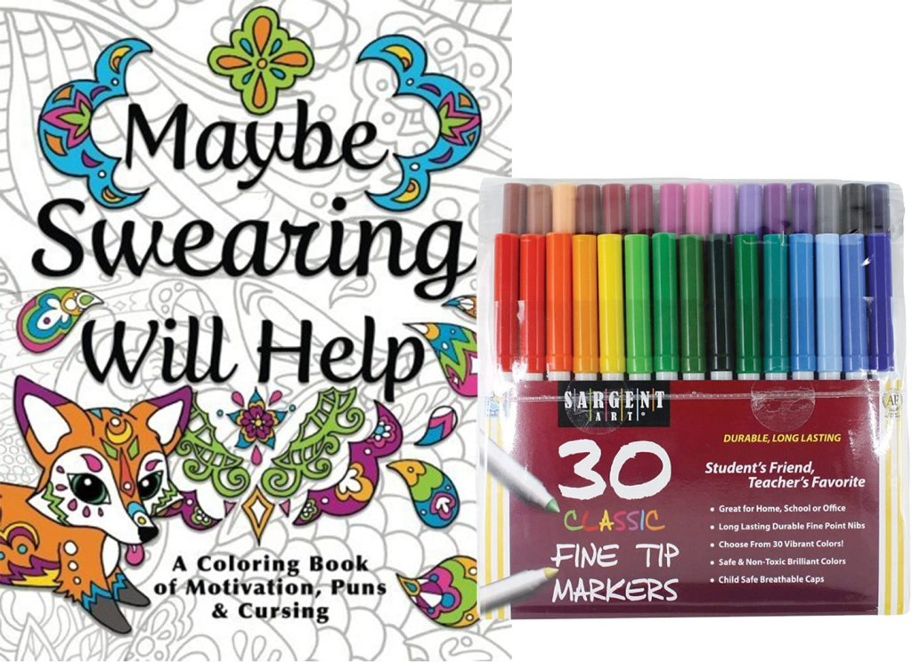 NYX Maybe Swearing Will Help Adult Coloring Book, best Secret Santa gift 2020