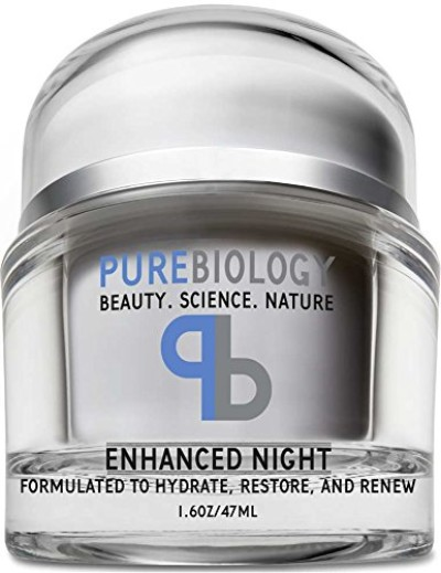 pure biology night cream face moisturizer