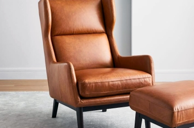 leather ryder leather chair west elm