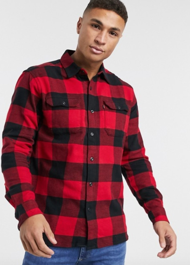best red flannel shirts levis