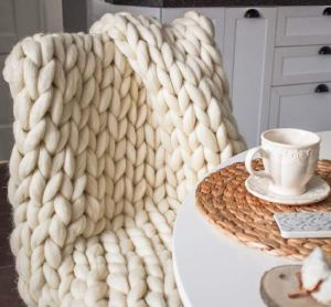 best blankets chunky knit