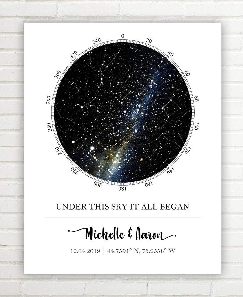 DreamTree Prints Custom Star Map