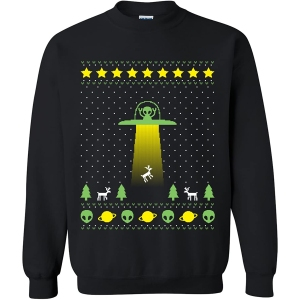 UGP Campus Apparel Alien Abduction Ugly Sweater