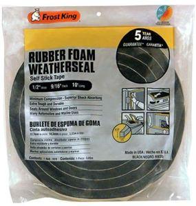 Frost King Rubber Foam Weatherseal