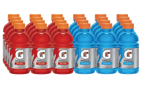best hangover cures- Gatorade Thirst Quencher, Fruit Punch and Cool Blue Variety Pack of 24