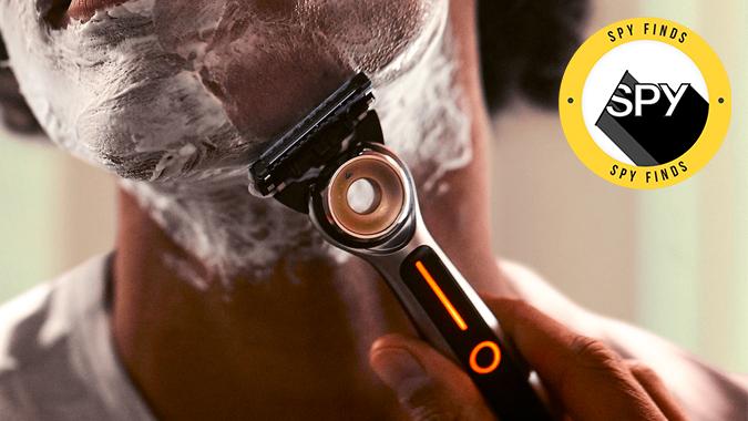 spy finds heated razor