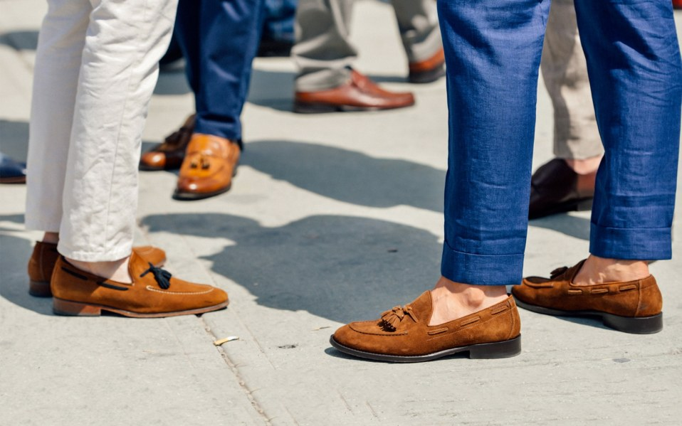 Men wearing loafers