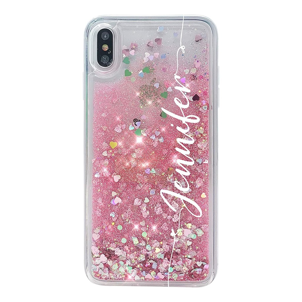 MARBLEFY Personalized Pink Glitter case