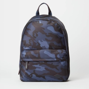 MZ Wallace Dark Blue Camo Bleecker Backpack