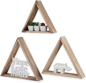 triangle floating bookshelf