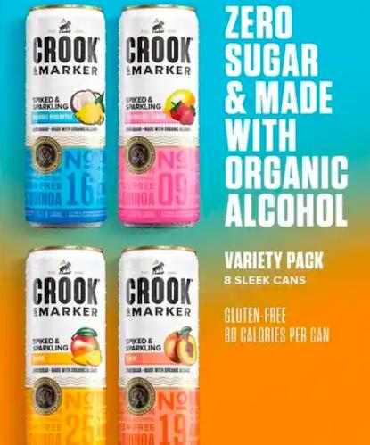 Crook & Marker Spiked Sparkling Seltzer Blue Variety Pack