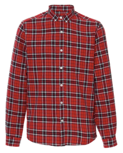 AMI Red Flannel Shirt