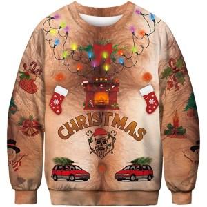 URVIP Shirtless Ugly Christmas Sweater