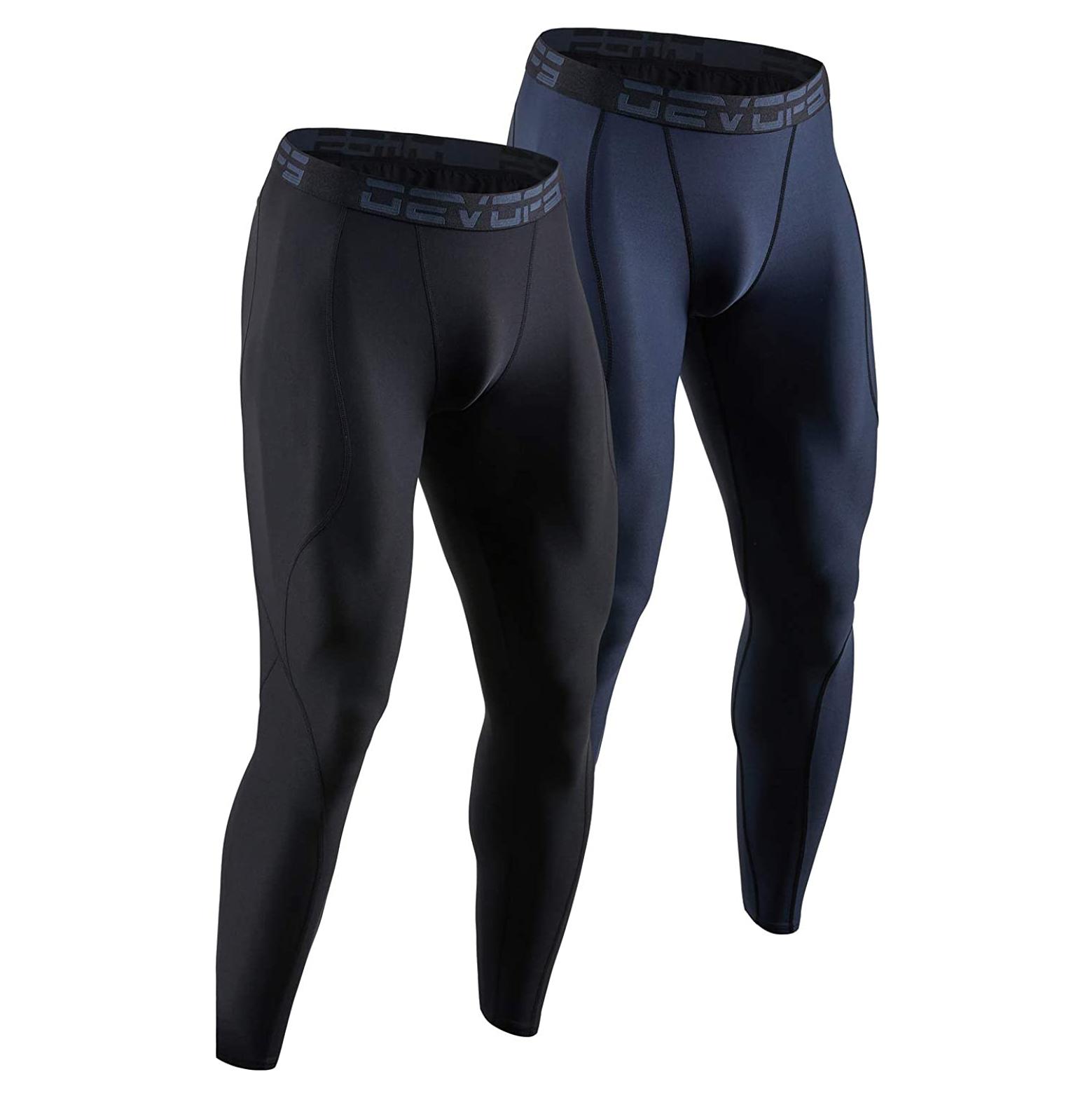 DEVOPS 2 Pack Compression Pants Athletic Leggings