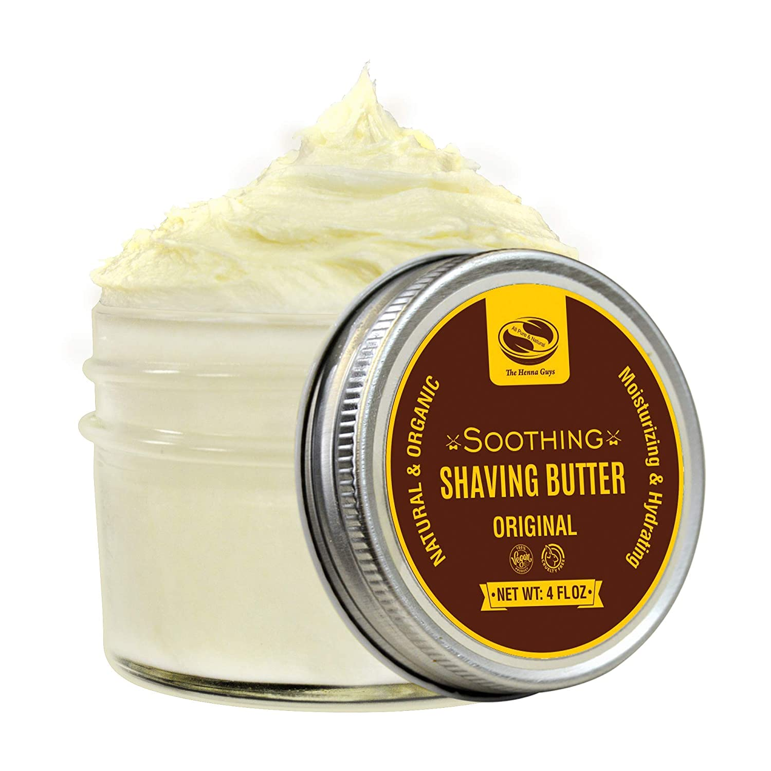 the henna guys organic shaving butter cream with shea butter and aloe
