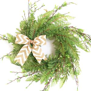 Tiny Land Knotted Bow Wreath