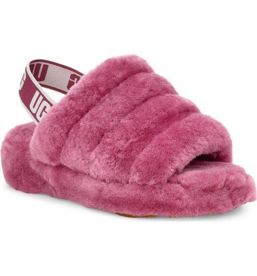 Pink Ugg Fluff Yeah Genuine Shearling Slide