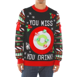 Tipsy Elves Drinking Game Ugly Christmas Sweater