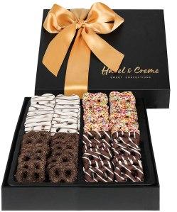 Hazel & Creme Chocolate Mini Pretzel Gift Basket