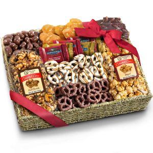 snack gift basket valentines day