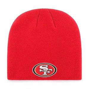 49ers beanie red SF