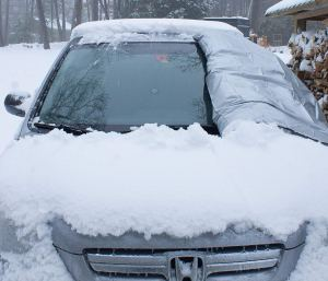 snowoff windshield cover
