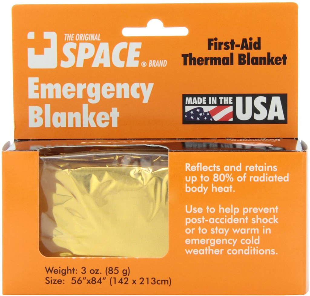 Grabber – The Original Space Brand Emergency Survival Blanket