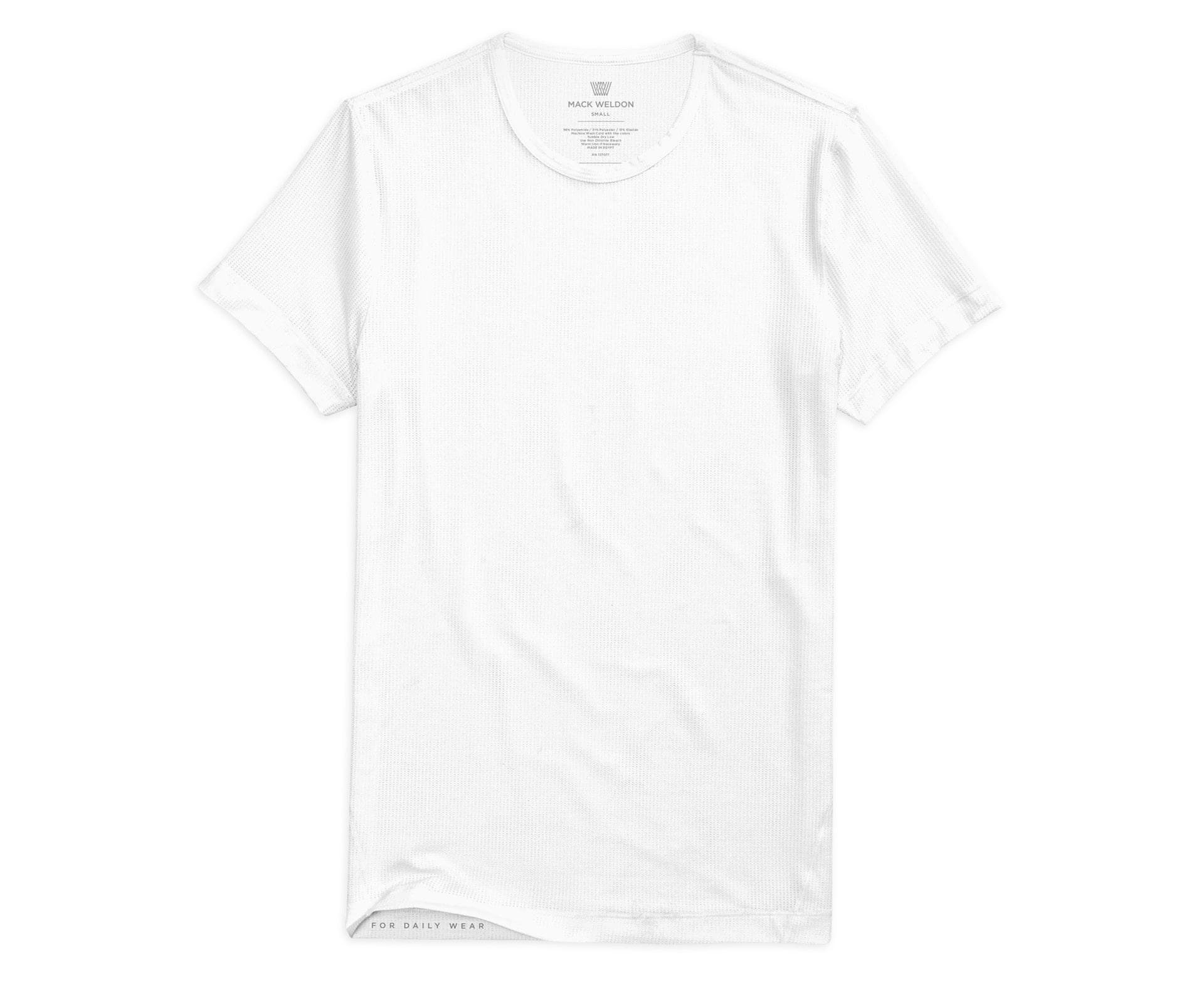 Mack Weldon Airknitx Crew Neck Undershirt in white; best undershirts for men