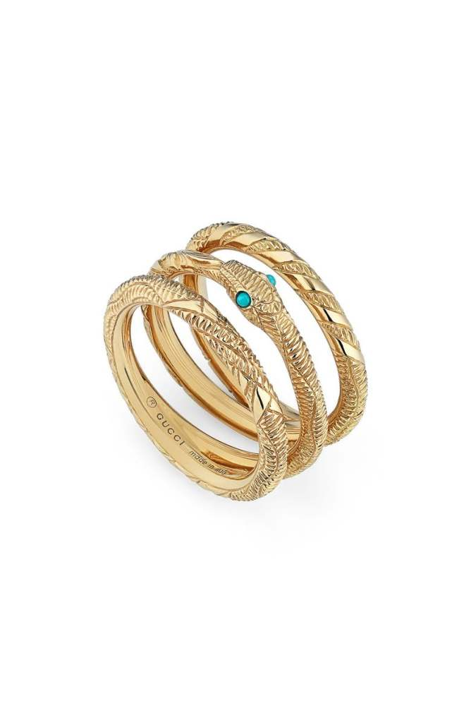 ouroboros stacking rings gucci