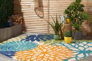 seriously rugged outdoor rugs which are weather-resistant and easily cleaned
