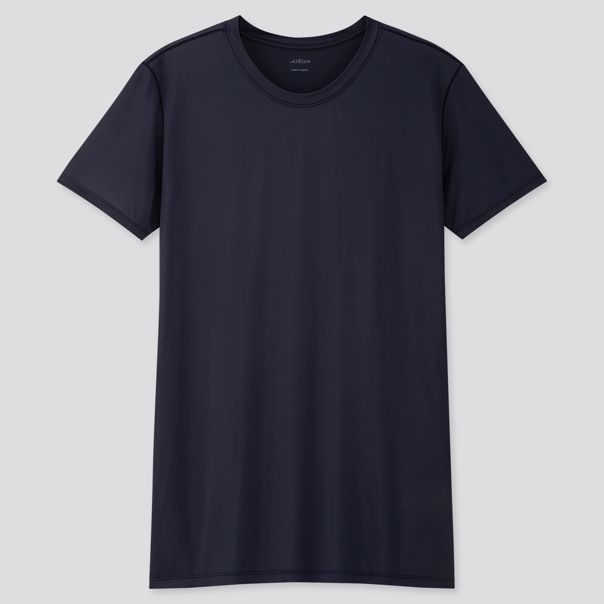 Uniqlo Men Airism Crew Neck Short-Sleeve T-Shirt in blue