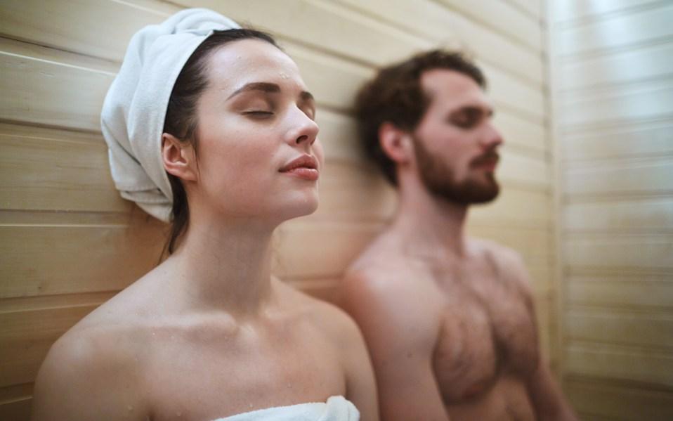 two-person sauna