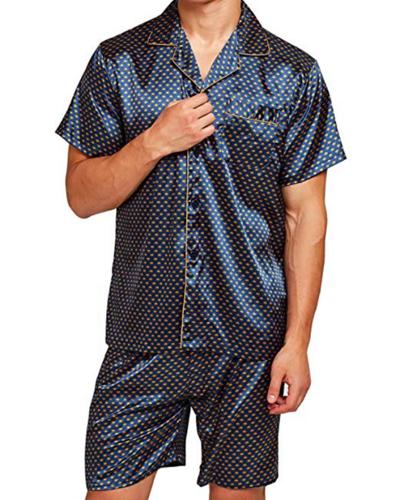 Tony and Candice Short Sleeve Pajama Set; best men's pajamas