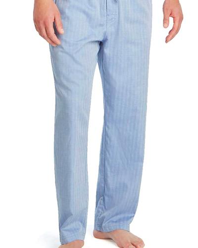 Nautica Men's Sleeping Pants in blue; best men's pajamas
