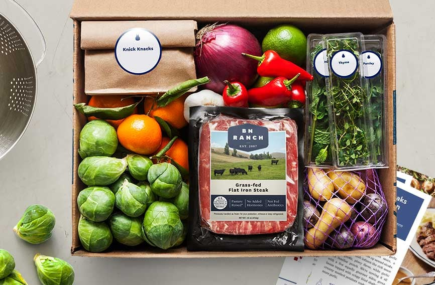 BlueApron meal service delivery kit