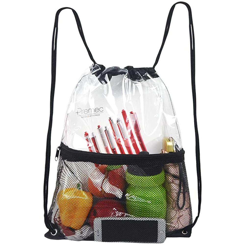 Clearworld Clear Drawstring Bag