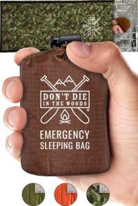 Don't Die In The Woods Emergency Sleeping Bag With Hood