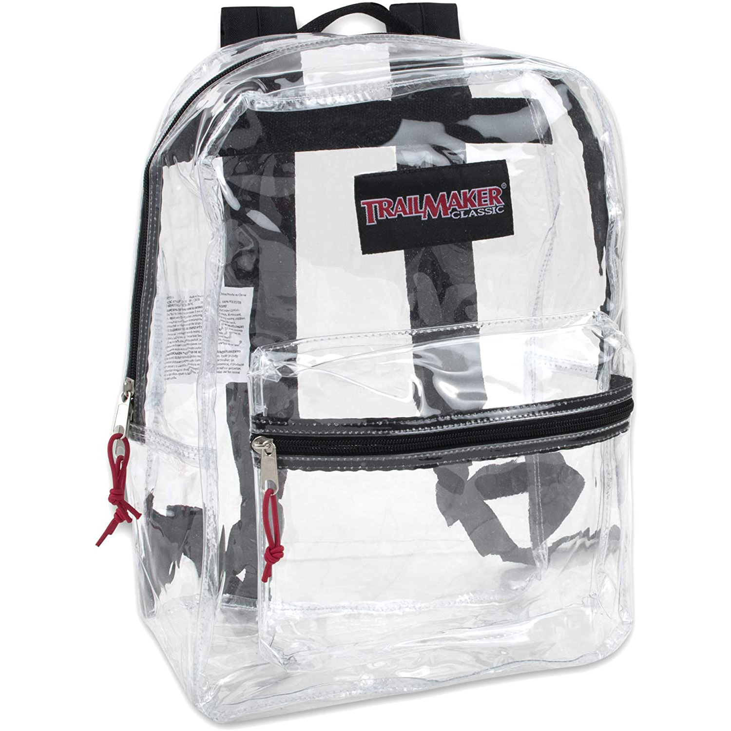 Clear Backpack With Reinforced Straps