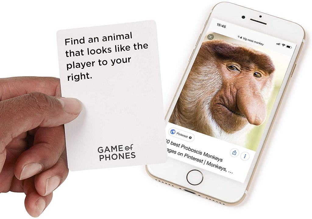 game of phones example card