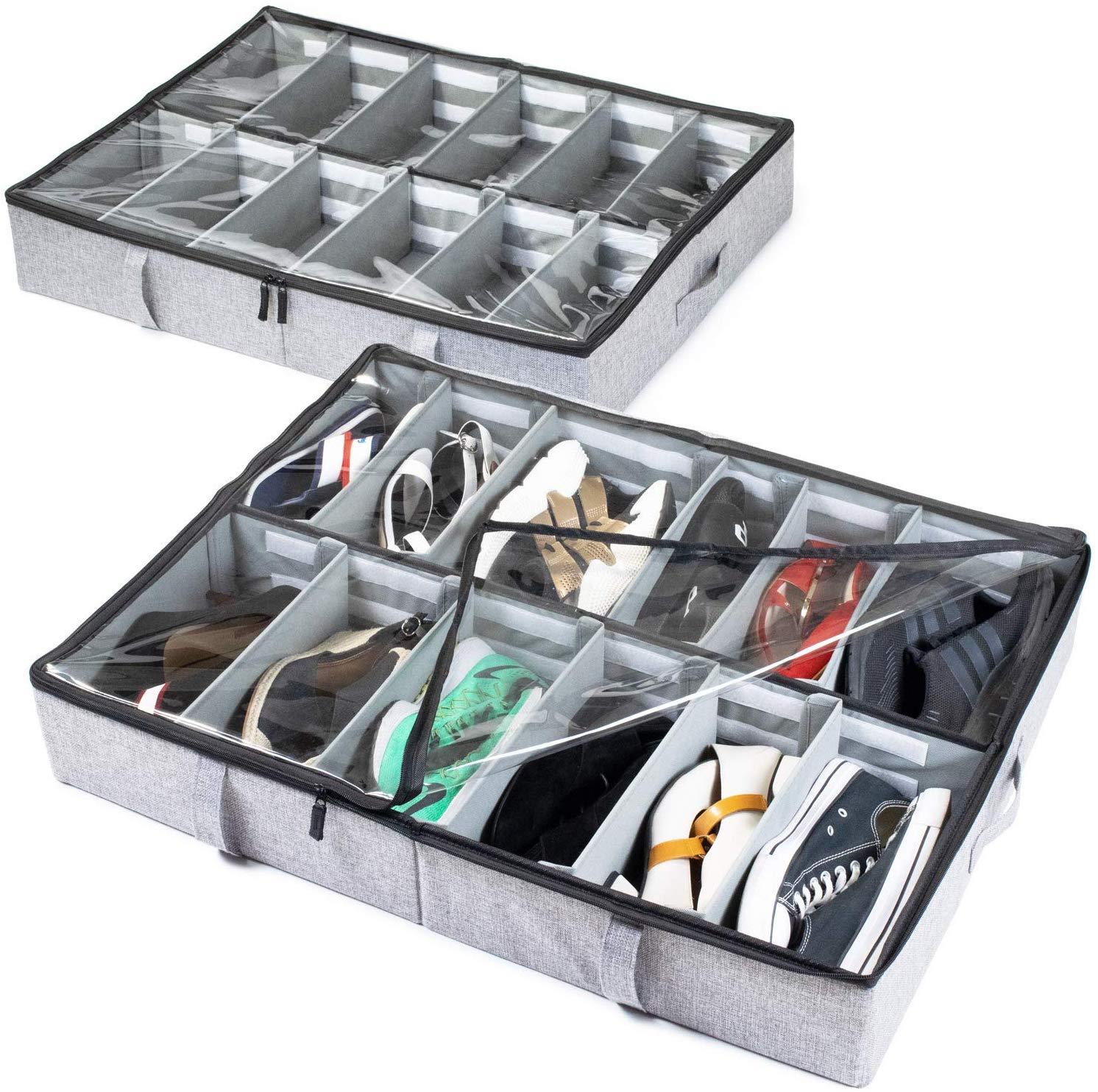 under bed shoe organizer storagelab