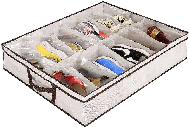under bed shoe organizer ziz home