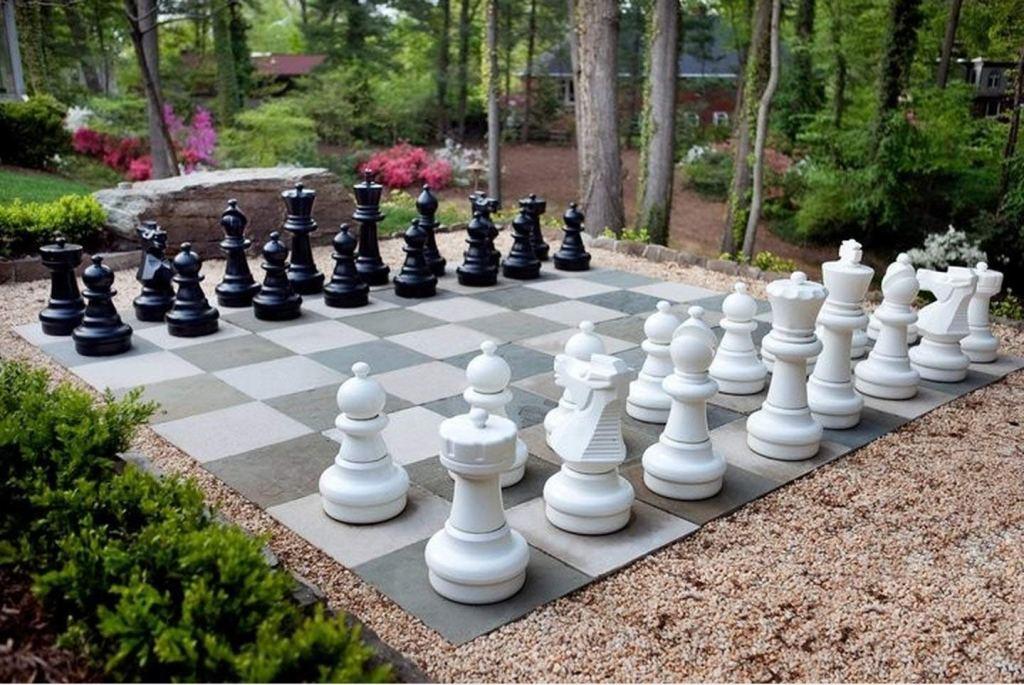 MegaChess Oversized Premium Chess Set Pieces, outdoor chess set