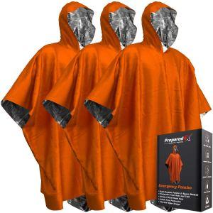PREPARED4X Emergency Blanket Poncho