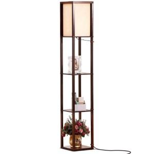 Brightech Maxwell LED Shelf Floor Lamp