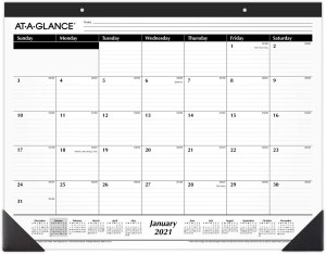 desk calendars at a glance