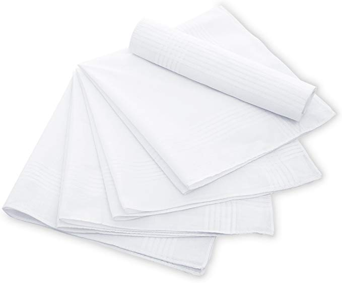 Mens womans cotton handkerchiefs hankies hanky  13 pack  New in package