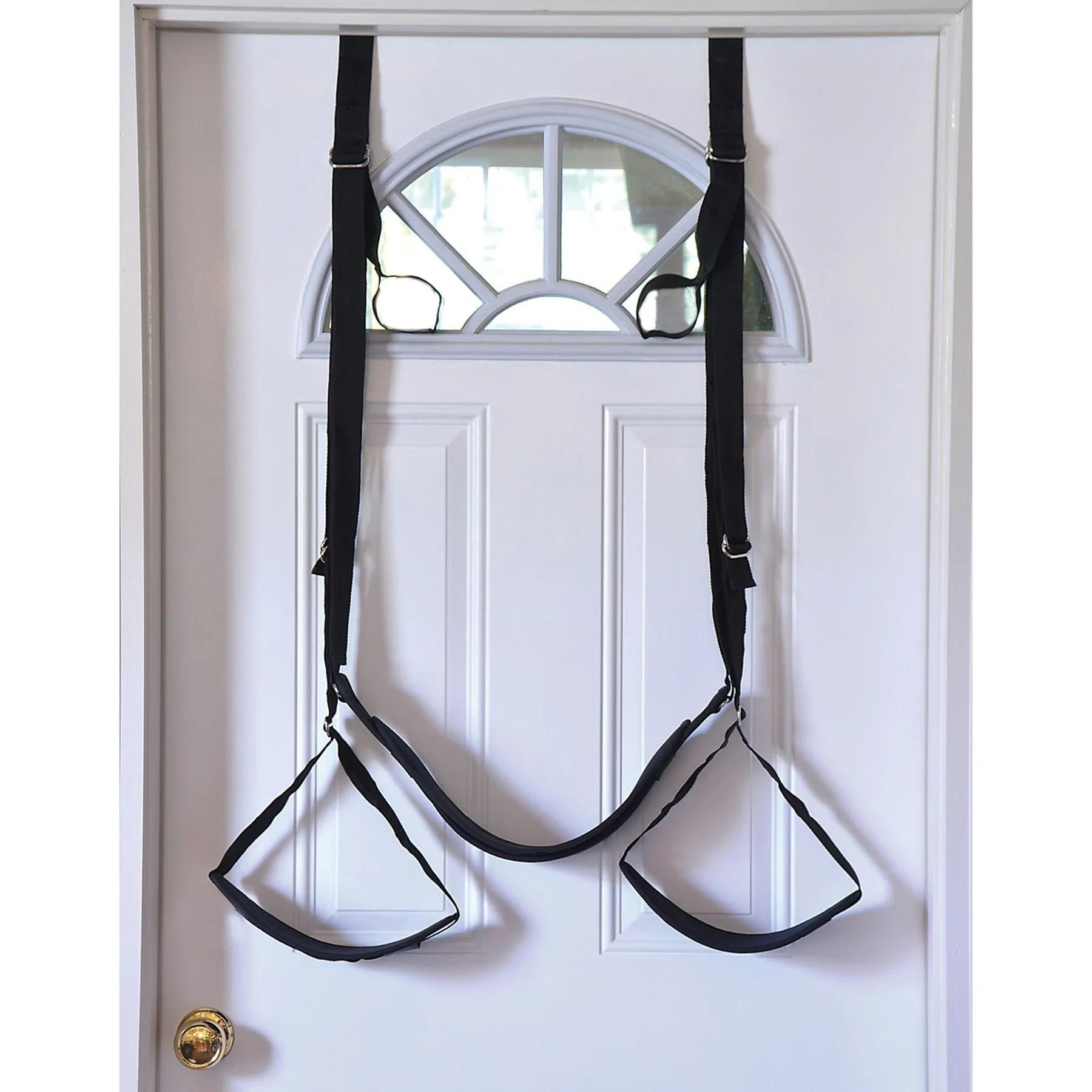 Adam & Eve Naughty Couples Door Swing hanging on door