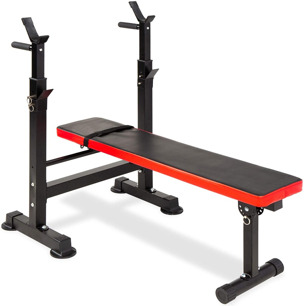 Best Choice Products Adjustable Folding Fitness Barbell Rack & Weight Bench